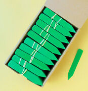Green Plastic Plant Stakes / Labels / Nursery Tags - Made In Usa - 4 X 5/8
