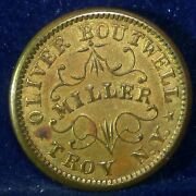 Redeemed At My Office Troy New York 1863 Civil War Token Oliver Boutwell