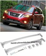 For 13-15 Nissan Pathfinder 2 Pcs Silver Roof Rack Cross Bar Top Luggage Carrier