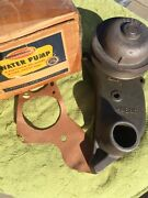 1949 1950 1951 1952 1953 Ford Flathead V8 Nos Lh Driver Side Water Pump And Pulley