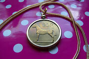 1986 Irish Pony Horse Coin Pendant On A 28 Gold Filled Foxtail Snake Chain