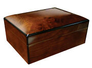 Napoli Cigar Humidor With Humidifier And Hygrometer - Holds Up To 75 Cigars