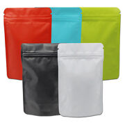 5 Colours Stand Up Matte Pure Aluminum Foil Bag Self Seal Zipper Packaging Pouch