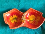 Vintage 1970's Maurice of California Art Pottery Divided Serving Dish FREE SHIP.