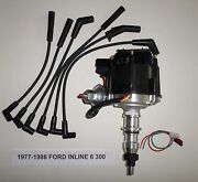 Ford Inline 6 Straight 6 Cyl. 77-86 300 Black Hei Distributor And Spark Plug Wires