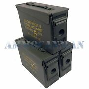 Stenciled 3-pack New 30 Cal M19a1 Mil Spec Empty Ammo Cans