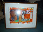 1998 Barry Bond's Wheaties Autographed Box 32 Of 73 Framed With C.o.a.