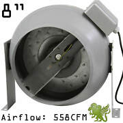 Hydroponics 8 Flange Inline Circular Duct Exhaust Fan For Grow System By Ihidro