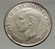 1944 Australia - Florin Large Silver Coin King George Vi Coat-of-arms I56688