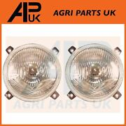 Pair Of Headlight Headlamp For Ford New Holland 4610 5610 6610 7610 7810 Tractor