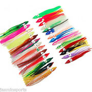 2and039and039- 4.73 Octopus Squid Skirt Lures Bait Soft Fishing Lures Mixed Color Tackle