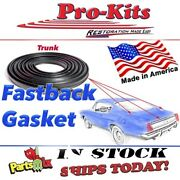 Fits 67 68 69 Barracuda Fastback Oe Correct Rubber Weatherstrip Trunk Lid Seal