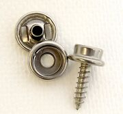 Snap Cap And Socket, All Stainless Steel W/ 5/8 Inch 8 Screw Stud 32 Piece Set