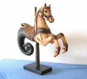 Vintage Seahorse Rocking Horse Carousel Hand Carved Merry-go-round-antique-doll