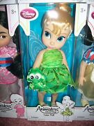 Disney Store Tinkerbell Animatorsand039 Collection Doll 16 2nd Edition W/peterpanvhs