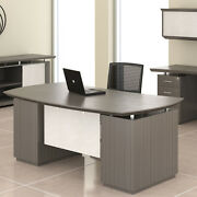 Modern Executive Desk Optional Hutch And Credenza Private Office Room Professional