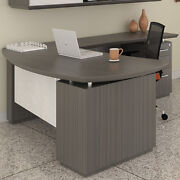 Modern L-shaped Executive Desk Private Meeting Office Optional Hutch Storage New