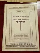 Orig 1909-1910 Fred C. Meyer Co. Musical Instr. Cases And Sundries Catalog 4