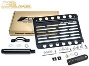 Eos Plate For 07-14 Mb S63 S65 Amg Tow Hook License Mount W/ Lowering Bracket