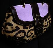 Nwt Coach Limited Edition Madison Suede Haircalf Top Handle Tote Bag Purse Wow