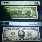 Pmg 64 Uncirculated Error Banknote. Ink-smear 1985 20