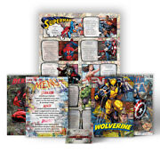 Table Plan Inspired By Dc Marvel Avengers Comic Themed Wedding Stationery Set