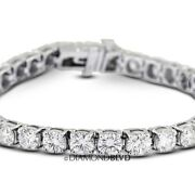 3 Ctw H/si2/v.good Cut Round Earth Mined Diamonds 14k Basket Tennis Bracelet 6gr