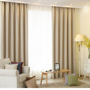 High Quality Eyelet Curtain Thermal Insulated Antique White/ Light Rice Grain