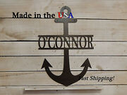 Anchor With Name Nautical Anchor Decor Childrenand039s Decor Beach Art S1202