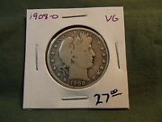1908o Vg Silver Liberty Barber Half Dollar See Our Store For More 1908 O