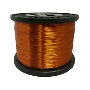 24 Awg Gauge Enameled Copper Magnet Wire 5.0 Lbs 3951and039 Length 0.0220 200c Nat