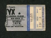 1978 Styx Concert Ticket Stub New Haven Ct Come Sail Away Grand Illusion