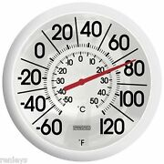 New Outdoor Window Patio Yard Garden Wall 13 Thermometer Big Bold Large Numbers