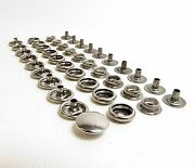 Snaps Set Cap Socket Stud And Eyelet 100 Of Each Piece - Stainless Steel