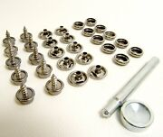 Stainless Steel Cap And Socket 3/8 Screw Studs And Setting Tool