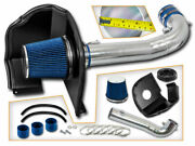 Cold Heat Shield Air Intake + Blue Filter For 15-19 Escalade / Esv 6.2l V8