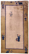 Hand Made Antique Peking Chinese Rug 3and039 X 6and039 91cm X 183cm 1900 - 1l14