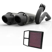 Hmf Can-am Commander 1000 2014 - 2020 Dual 3/4 Blackout Exhaust Outer + Kandn
