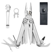 Leatherman Wave + Plus Stainless Multi-tool And Leather Sheath And Pocket Clip