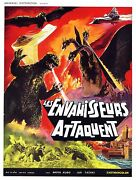 Destroy All Monsters Movie Poster 1968 Fantasy/cult