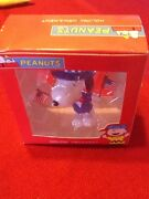 Vintage Snoopy Ornament Ufs Uncle Sam Patriotic W Usa American Flags 3.75 Tall