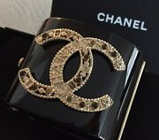 New And Authentic Black And039ccand039 Wide Bangle Bracelet Sold Out