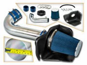 Heat Shield Cold Air Intake System +blue Filter For 11-20 Grand Cherokee 5.7l V8