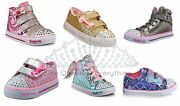 Skechers Twinkle Toes + Other Styles Girls Shoes ❤️ All Light Up ❤️ Ships Free