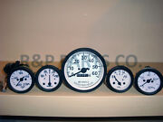 Speedometer Temp Oil Fuel Amp Gauge Set White For Willys Mb Jeep Ford Cj Gpw