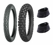 Shinko 3.00-21 And 4.60-18 244 Tires And Tubes Honda Xr250l, Kaw Klx250s, Suz Dr350s