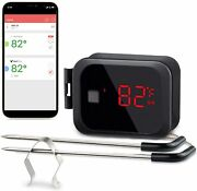 2probes Digital Barbecue Smoking Thermometer Wireless Ibt-2x Meat Cooking Food