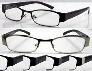 L420 Menand039s Metal Reading Glasses/spring Hinges/simply Modern Style Designed