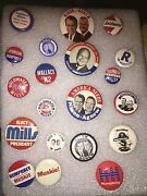 Presidential Campaign Buttons,rare And Vintage,nixon,humphrey,dwight,johnsonandmore