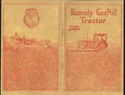 Early 1900and039s Rumely Gaspull Farm Tractor Equipment Sales Promo Brochure Adv